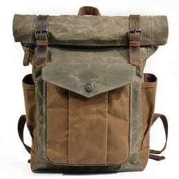 Styles Backpacks Australia - Europe ancients style waterproof canvas backpack unisex travel outdoor sport large capacity mountain climbing school computer backpack