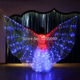 led wings NZ - New Design Led Isis Wings with Adjustable Sticks Belly Dance Accessories Stage Performance Props for Party Holiday DIY Decorates