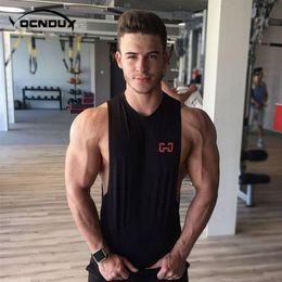 $enCountryForm.capitalKeyWord Australia - 2018 Fitness Men Tank Top Slim training Mens Bodybuilding Tank Top Stringers vest Singlet Sports Running Sleeveless Shirt