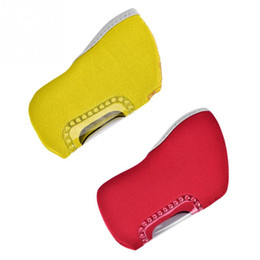 Golf Club Head Covers NZ - 10Pcs Golf Iron Head Covers Iron Putter Protective Yellow Red Window Golf Club Head Protector Protective Cover Accessories