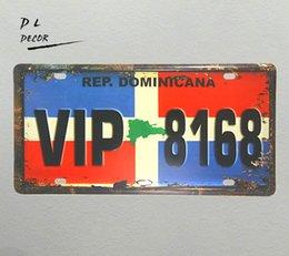 "$enCountryForm.capitalKeyWord UK - DL-""VIP 8168"" COLOR License plate Vintage Tin sign shabby chic COFFEE SHOP PUB home decor"