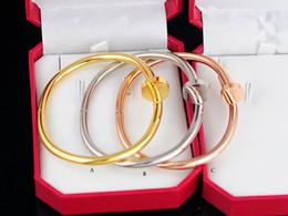 $enCountryForm.capitalKeyWord Australia - Quality Celebrity design Metal Buckle Screws diamond bracelet Metal Cuff bracelet Jewelry With Box