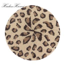 daebf916f92 New Arrival Warm Leopard Print Beret Female Flat Cap Berets Hats For Women  Fashion Boina Autumn Beanie BLM019