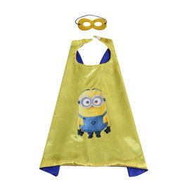 $enCountryForm.capitalKeyWord UK - 6 style superhero cape with mask The Minions costumes for kids double layer party favors Halloween Christmas Birthday gifts