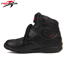 China Sports Motorcycle Boots Riding Tribe SPEED BIKERS Comfortably Moto Racing Boots Motocross Motorbike Shoes A005 Black White Red cheap red black biker boots suppliers