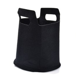 China New Black Non-Woven Fabric Flower Pots with Handles Nursery Bag for Seeds Growing Grow Tent Garden Decor Greenhouse Fairy Garden Miniatures cheap for nursery bags suppliers