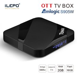 Google Max Canada - New android tv box 2GB 16GB Tanix TX3 MAX Amlogic S905W iptv box 2.4G WiFi BT4.1 1080P 3D media player