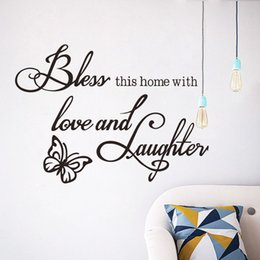 $enCountryForm.capitalKeyWord Australia - Family Wall Stickers Quotes Vinyl Self-adhesive Love Wall Art Decals for Living Room Bedroom Decoration Butterfly Wall Stickers Removable