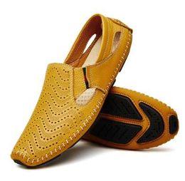 $enCountryForm.capitalKeyWord UK - Men Fashion Leather Sandals Plus Size 45 46 47 Casual Slip-on Summer Shoes 5 Colors Size 38-47