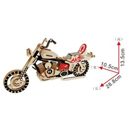 3d wood kits Australia - Lulong Laser Cutting 3D Wooden Puzzle 3D wood Jigsaw Puzzle Woodcraft Assembly Kit -Harley Motoith 98pcs Parts