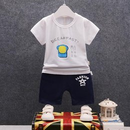 Baby Girl Summer Suits Australia - Summer New Fashion Children Boys Girls Cotton Suit Toddler Tracksuits Baby Cartoon Poached Egg T-shirt Short Pants 2Pcs Sets
