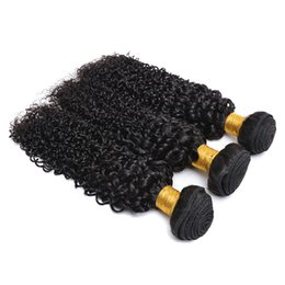 Wholesale 8A Peruvian Virgin Hair Weave inch bundles Natural Color Kinky Curly Unprocessed Human Hair Extension