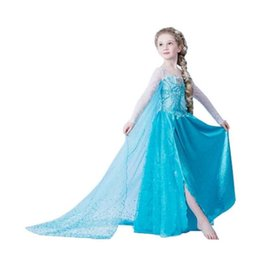 Wholesale carnival clothes for kids online – ideas Baby Girls Carnival Christmas Halloween Cosplay Costume Party Lace Sleeve Tutu Dress Princess Clothes For Kids Girls Costume