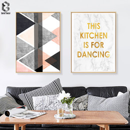 Art Canvas Prints Australia - Nordic Art Posters and Prints Quotes Wall Art Canvas Painting Wall Pictures For Modern Living Room Marble Home Decor