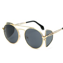 2da01b830b Steampunk Goggles Black Australia - Round Steampunk Sunglasses Men Brand  Women Chic Vintage Sun Glasses Metal