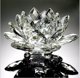 $enCountryForm.capitalKeyWord NZ - Various Colors 85mm Crystal Lotus Crafts Glass Flower Miniatures Paperweight Table Ornaments Gift Home Decoration Accessories