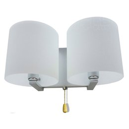 Crystal wall lights design online shopping - White Frosted Glass Bedroom Bedsides Wall Lamp With Switch Simple Design Corridor Wall Sconce Balcony Porch Hallway Wall Lighting Fixtures