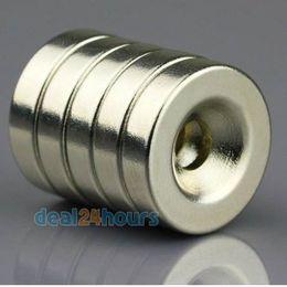 Countersunk Neodymium Magnets Australia - OMO Magnetics 10pcs Super Strong Round Neodymium Countersunk Ring Magnets 20 x 5 mm Hole: 5mm Rare Earth N5