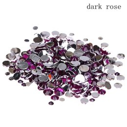 old resin Australia - Old rose Resin Rhinestones 2-8mm Round Flatback Non Hotfix Glue On Crystals And Stones Appliques For Wedding Dress