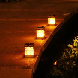 Wholesale Solar LED garden lights Flickering dancing Lantern Fire dancing lamp outdoor led solar lights fence flickering dancing