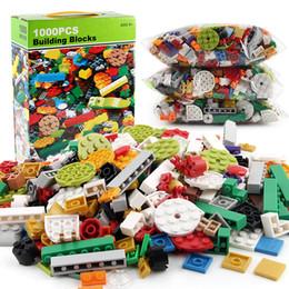 Kids Blocks Wholesale Australia - New Baby 1000Pcs Building Bricks Set DIY Creative Brick Kids Toy Educational Building Blocks Compatible Spell Insert Puzzle Building Blocks