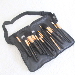 Goat Hair Dhl Australia - Promotion! New Professional Cosmetics makeup brushes 17 Pieces Brush Set Goat hair +bag Wholesale High-quality Dhl free Shipping+gift