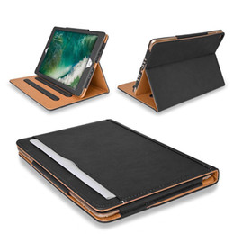 $enCountryForm.capitalKeyWord Australia - Tan Leather Wallet Stand Flip Case Smart Cover for New iPad 2017 Air 2 3 4 5 6 7 Air Air2 Pro 10.5 9.7 inch Mini Mini2 Mini3 Mini4