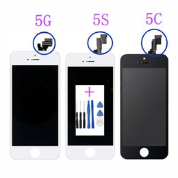 Iphone Screen Glass Tools Australia - wholesale AAA Screen for Apple IPhone 5 5S 5C LCD Display Touch Screen Assembly with Digitizer Glass No Dead Pixel Phone Parts+Tools
