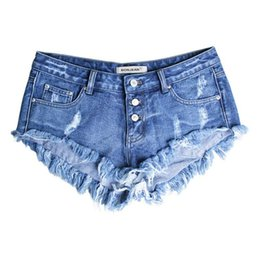000988a0657a3e Boyfriend Style Hole Denim Shorts Tassel Blue Womens Low Waist Shorts 2017 Summer  Sexy Plus Size Woman Jeans Girl Hot