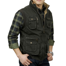 635bcdfd002 Tactical Vest Men Vest Sleeveless Jacket Men Military Mens Veats Casaco  masculino Casual Multi Pocket Photographer Waistcoat XXL