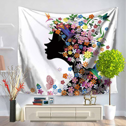 Sublimation Cotton NZ - Wholesale Custom Sublimation Printing Best Factory Price Fancy Colorful Decorative House 130x150cm 400g Wall Hanging Tapestry
