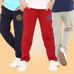 Girls Trousers Wholesale Australia - New Spring Autumn Cotton Kids Pants Boys Girls Casual Loose Pants 3 Colors Kids Sports Trousers High Quality Hot Sale