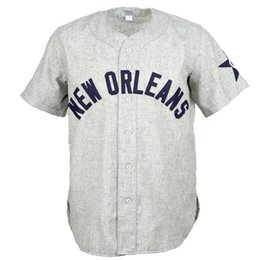 b5c6e363586 New Orleans Pelicans 1936 Road Jersey 100% Stitched Embroidery Logos  Vintage Baseball Jerseys Custom Any Name Any Number Free Shipping