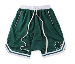 Joggers Shorts For Men Canada - Sportswear Shorts For Men Justin Bieber Skateboard Streetwear FOG Loose Shorts Beach Mesh Jogger Fear God Shorts