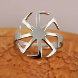 Best Christmas Gifts For Men Australia - Sun Ring Unique Geometric Open Design Stainless Steel Rings Jewelry Best Christmas Gift for Men and Women YP3955