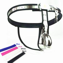 $enCountryForm.capitalKeyWord NZ - Chastity Belt Stainless Steel Chastity Underwear Adjustable Arc Waist Model-Y Restraint Devices Penis Sleeve Cage Bondage Chastity Pants