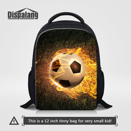 $enCountryForm.capitalKeyWord Canada - Dispalang 12 Inch Small School Backpack For Little Boys Cool Footballs Printing Schoolbag For Kindergarten Toddler Baby Mochilas