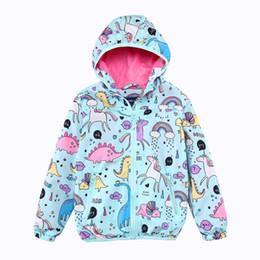 ef36fb0a68 Meninas Casacos Com Capuz Primavera Blusão Baby Girls Roupas 2018 Marca  Animal Crianças Casacos Unicórnio Outerwear