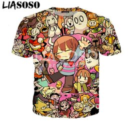 9a74376ca4 AnimAtion print t shirts online shopping - New Fashion Womens Mens  Animation Skull Undertale Last Game