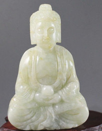 Jade Angel Pendants Australia - Wholesale Cheap Chinese jade hand-carved the statue of buddha,delicate Pendant Jewelry