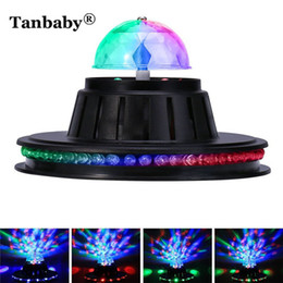 Multicolor disco ball online shopping - Tanbaby Mini UFO Stage Light Voice Control Multicolor Rotating LED Lamp Magic Ball for Disco party club bar DJ Dancing EU US