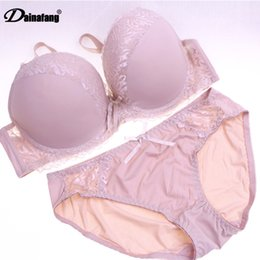 93bc289cf0d Dainafang New 2017 Sexy Lace Bra Set Women big Size Push Up Underwear Set  Bra and Panty 38 40 42 44 CD Cup For Female DE0043