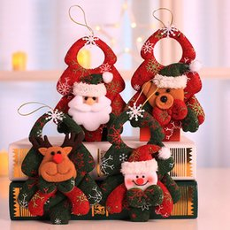 xmas tree hanging santa claus decorations NZ - 1PC Hanging Christmas Tree Ornaments Decoration for Home Xmas Party New Year Gift Christmas Santa Claus Snowman Elk Doll Toy