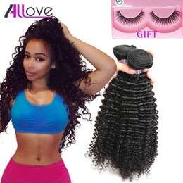 Best kinky curly hair Bundles online shopping - Best A Brazilian Peruvian Indian Curly Hair Wefts Bundles Unprocessed Malaysian Kinky Curly Human Hair Extension
