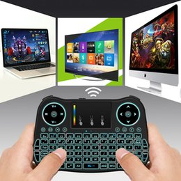 2.4G wireless 18 y mouse keyboard touch panel mouse super thin set-top box player keyboard New Fly Air MouseWith Backlight Red Green