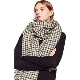 oversize plaid scarf 2019 - Winter Fashion Female Plaid Scarf For Women Cashmere Scarves Oversize Lattice Warm Thick Shawl Wrap Blanket Tippet 190*7