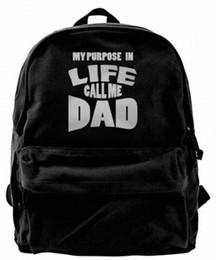 $enCountryForm.capitalKeyWord UK - My purpose in life call me Dad Canvas Shoulder Backpack Cute Backpack For Men & Women Teens College Travel Daypack Design handbag Black
