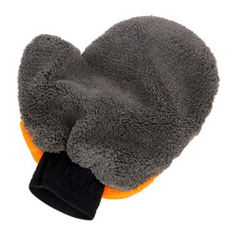 Soft care online shopping - Plush Washing Gloves Car styling Water Absorption Soft Car Cleaning Car Accessories Auto Care Car Wash Microfiber Washer