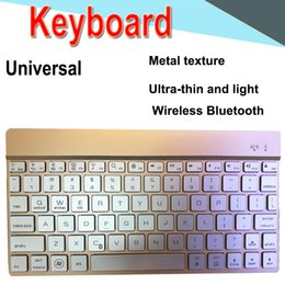 Thin mini lapTop online shopping - Bluetooth Keyboard inch Universal Ultra thin mini long lasting Battery keyboard Backlight for PC iPad Laptop Android IOS Tablet XPT