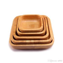 Platz Holz Salat Schüssel Geschirr Beliebte Holz Bardian Obstteller Für Home Küche Werkzeug Dessert Kaffee Gericht 38xy dd im Angebot